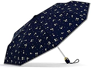 SODIAL Women's Umbrellas Automatic Sunscreen Anti UV Flowers Umbrella Rain Parasol Female Folding Umbrella Windproof