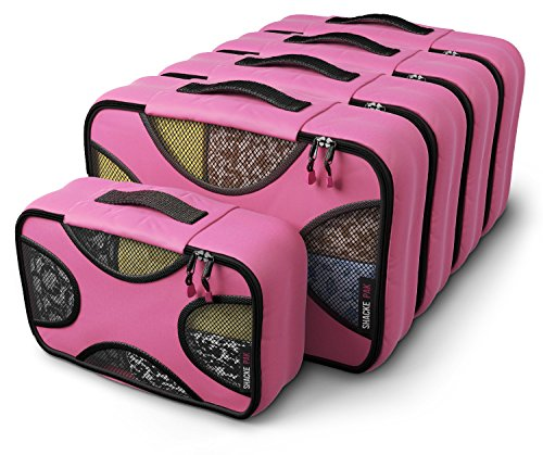 Shacke Pak  5 Set Packing Cubes  Medium/Small – Luggage Packing Travel Organizers Precious Pink
