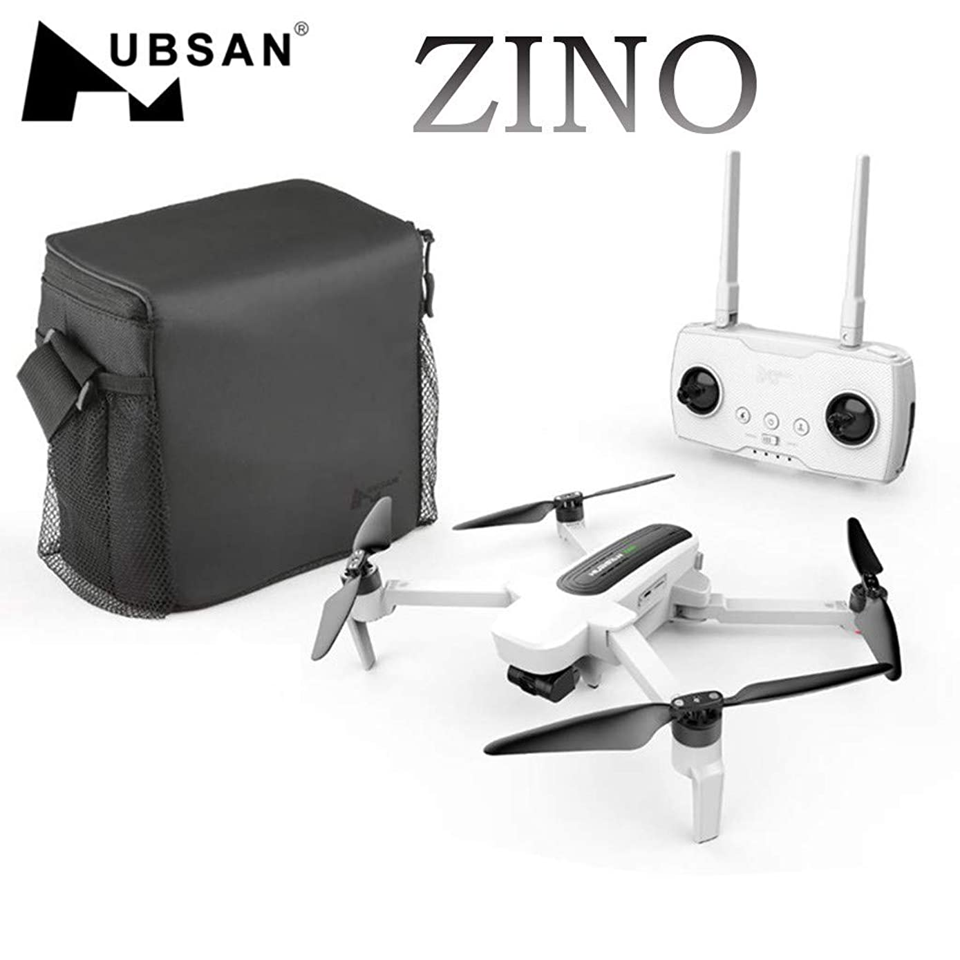 HUBSAN New Zino Drone,with 4K Camera H117S GPS WiFi 5G Brushless Motor, Foldable Arm 3-Axis Gimbal RC Quadcopter,with Gesture Video,Experiential Follow,APP Control (White)