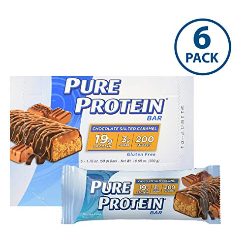 Pure Protein Bars, Healthy Low Carb Snacks, Chocolate Salted Caramel, 1.76 oz, 6 Count
