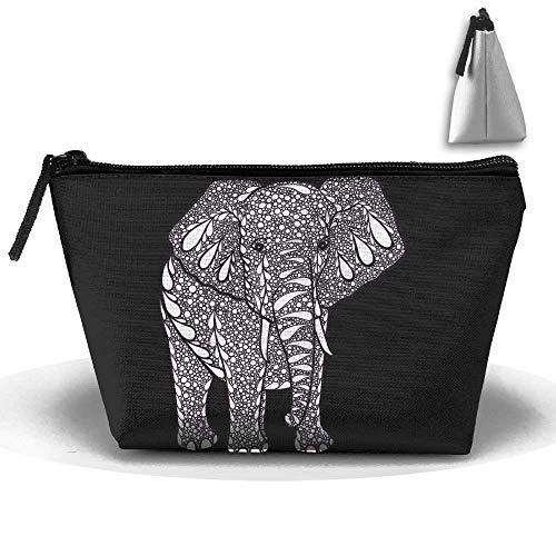 India Treasure Elephant Makeup Bag Storage Portable Travel Wash Tote Zipper Wallet Handbag Carry Case