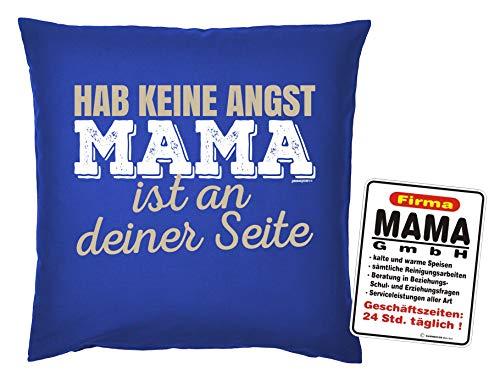 Mama GmbH Mega-shirt kussensloop met metalen bord, met tekst