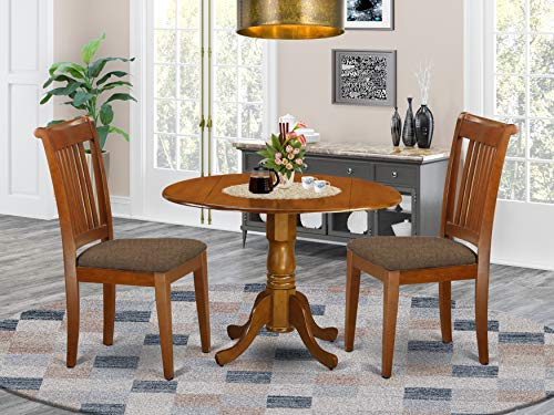 3 PC small Kitchen Table and Chairs set-breakfast nook plus 2 dinette Chairs