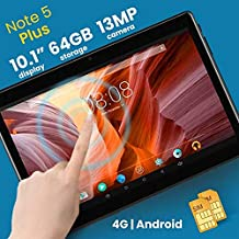 Discover Note 5 Plus, Tablet 10.1 Inch, Android 7.0, 64GB, 4GB DDR3, 4G, Wi-Fi, Quad Core, Dual Sim, Dual Camera, (Black)