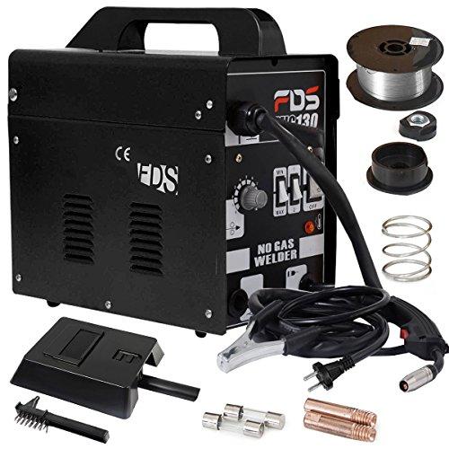 COSTWAY Schweißgerät Schweißmaschine, Ampere Schweißgerät MIG 130, Elektrodenschweißgerät Schutzgas Fülldraht (Schwarz)