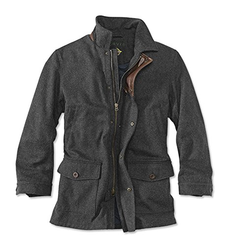 Orvis Men's Wool Driving Coat, X Large Black