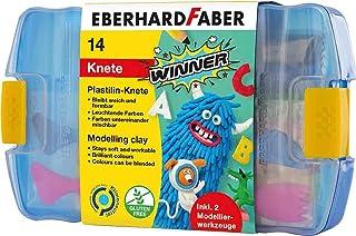 Eberhard Faber 572010 – plastynowa masa w pudełku z tworzywa sztucznego, łącznie z 2 narzędziami do modelowania, posortowane