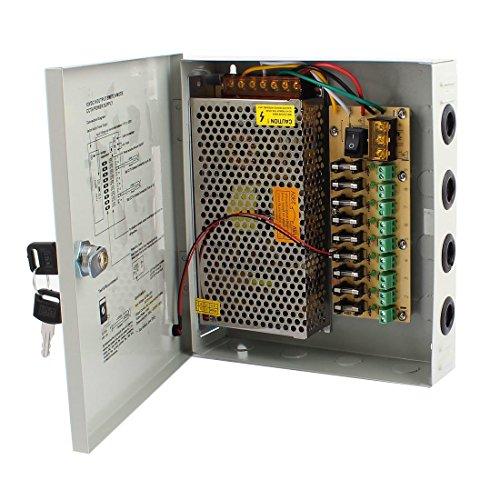 RPS 12V DC Netzteil Trafo Netzadapter, Leistungsnetzteil für CCTV Kamera Videoüberwachung, LED, (12V 60W 9CH)