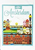 Hello Amsterdam Vintage Style Poster, reise, – Große