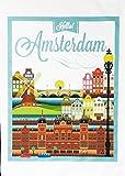 Hello Amsterdam Vintage Style Poster, reise,–Große