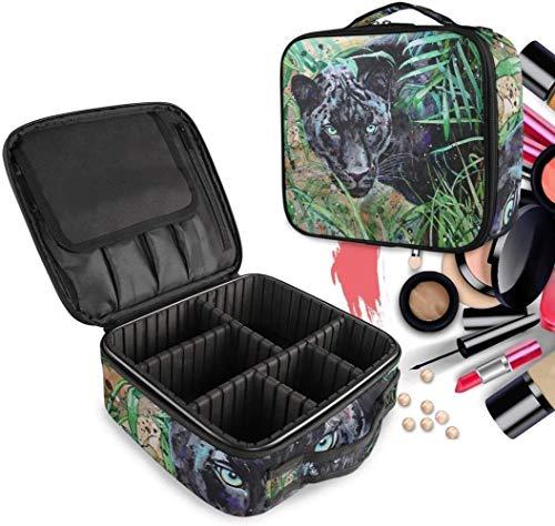 Cosmétique HZYDD Aquarelle Leopard Make Up Bag Trousse de Toilette Zipper Sacs de Maquillage Organisateur Poche for Compartiment Femmes Filles Gratuit