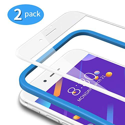 TAMOWA für Panzerglas Kompatibel für iPhone 8 / iPhone 7 /iPhone SE 2020 (2 Stück), 3D Full Screen Panzerglasfolie 9H Härte für Panzerglas Schutzfolie mit Positionierhilfe, Anti-Kratzen, weiß