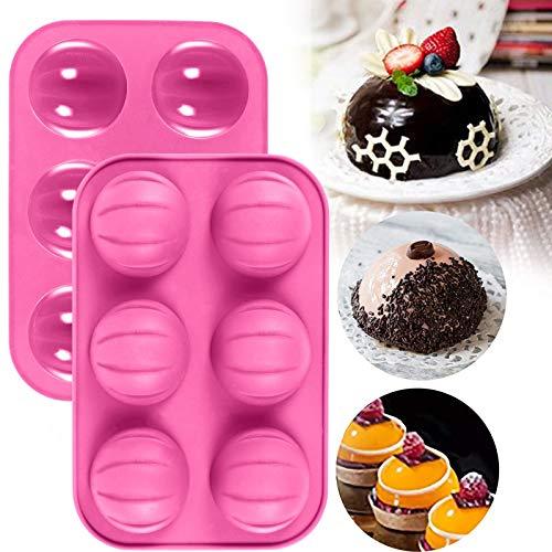 MGCG Stampi per Dolci Fai-da-Te in Silicone Fatti in casa, Strumenti per Realizzare Modelli di Torta al Cioccolato, stampi per 6 Tazze