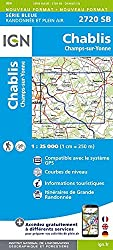 Chablis / Champs-sur-Yonne 2015 IGN Road Map