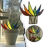 2021 Suncatcher Agave manchado, realista Mini acrílico Aloe maceta decoración de plantas adornos de jardín, paneles de vidrio decoración de mesa decoración del hogar (multicolor)
