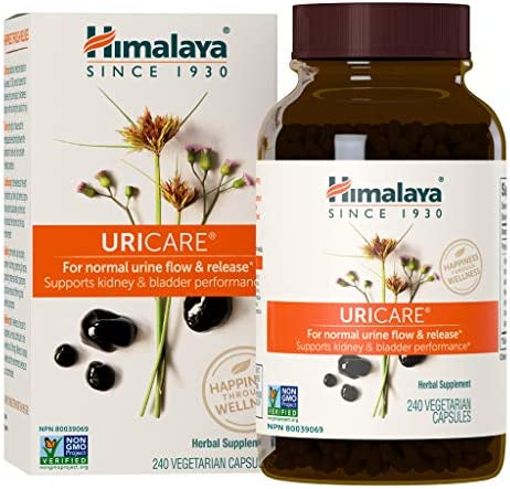 Himalaya UriCare/Cystone for Caffeine-Free, Kidney and Urinary Tract Support for Men and Women, 840 mg, 120 Capsules, 1 Month Supply