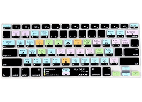 XSKN OS X English Silicone Shortcut Keyboard Skins are Compatible with MacBook 13' 15' 17' US Version