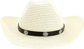 LiWen Zheng Women Men Straw Western Cowboy Hat Roll Up Brim Sun Hats Summer Beach Sombrero Hombre Lifeguard Jazz Hats