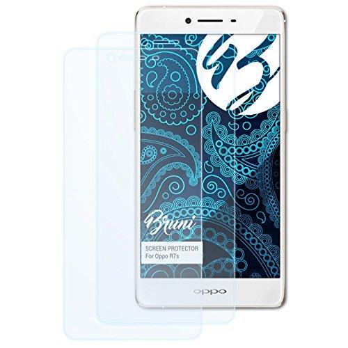 Bruni Schutzfolie kompatibel mit Oppo R7s Folie, glasklare Bildschirmschutzfolie (2X)