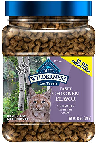 Blue Buffalo Wilderness Grain Free Crunchy Cat Treats, Chicken 12-oz Tub