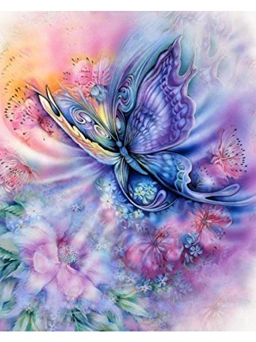 Mobicus 5D DIY Diamond Painting,by Number Kits Crafts & Sewing Cross Stitch?Wall Stickers for Living Room Decoration,Butterfly
