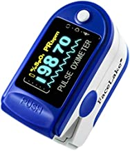 FaceLake FL350 Blue Pulse Oximeter with Carrying Case, Lanyard & Batteries