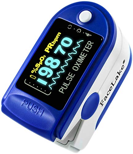 Best Review Of FaceLake FL350 Blue Pulse Oximeter with Carrying Case, Lanyard & Batteries