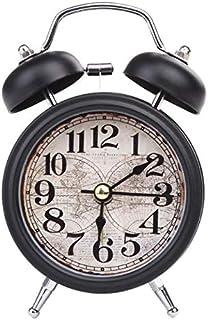Despertador Decoración del Hogar Caída Respuesta Antiguo Doble Campana Mesa De Noche Reloj Despertador 4 Colores Reloj Antiguo Accesorios De Decoración 2