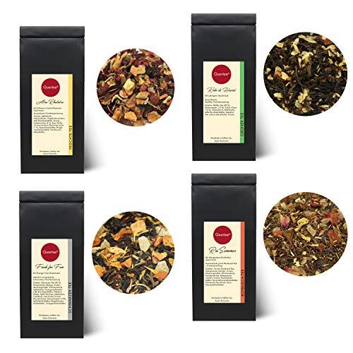 Quertee Eistee Set - 4 x Eistee für die heißen Sommer Tage - Tee im Sommer - 4 x 50 g (200 g)