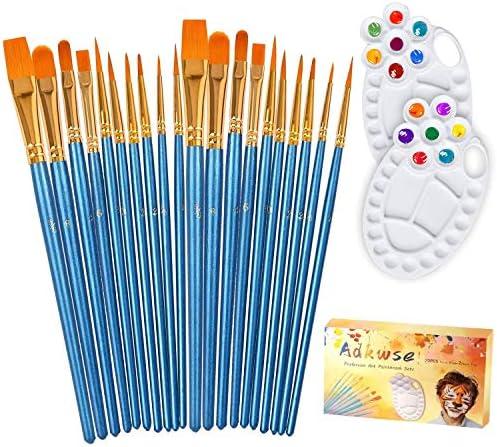 Adkwse Paint Brush Set 22 Pcs Artist Paintbrushes for Acrylic Oil Watercolor Canvas Gouache product image