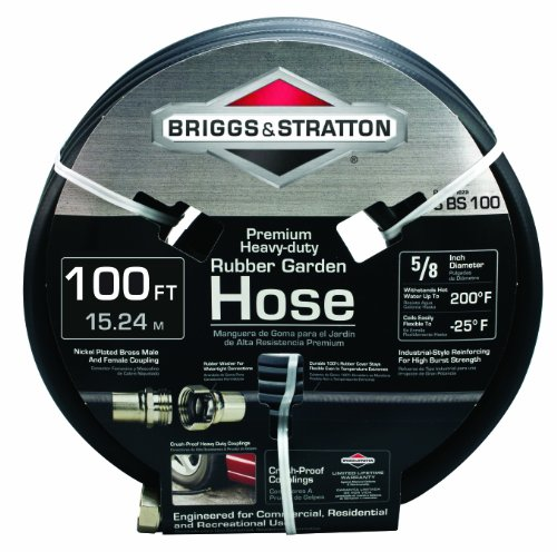 Briggs and Stratton 8BS100 100-Foot Premium Heavy-Duty Rubber Garden Hose