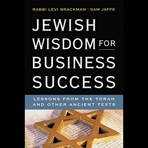 Jewish Wisdom for Business Success  audiobook cover art