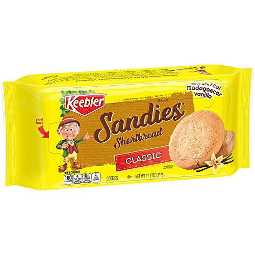 Keebler SandiesCookies, Classic Shortbread, 11.2 Oz Tray