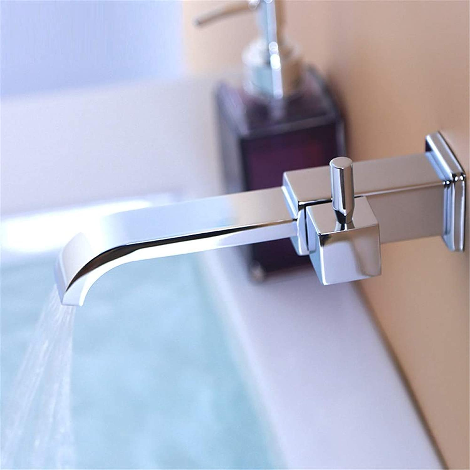 Bathroom Faucet Wall Mount Brass Chrome Single Cold Waterfall Faucet Mop Pool Taps