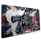 HNi80uYu7ce Rainbow Six Siege Large Gaming Mouse Pad with Edge Stitching, Office Non-Slip Mouse Pad, Home Anime Mouse Pad (15.8x35.5In)
