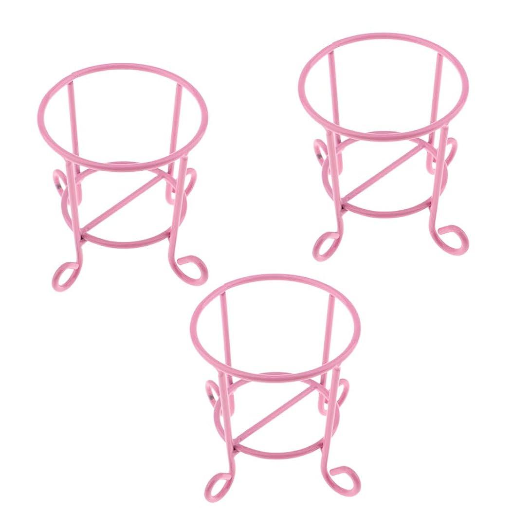 魔術チョコレート階段CUTICATE メイクパフスタンド 化粧スポンジホルダー 化粧スポンジスタンド 全3色 - ピンク