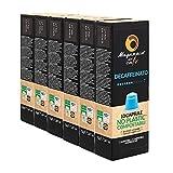 MAGAZZINI DEL CAFFE Café de Mezcla Descafeinado, Paquete de 60 Cápsulas Compostables Autoprotegidas Compatibles con la Máquina de Café Nespresso, Made in Italy, sin OGM, Vegano y Kosher