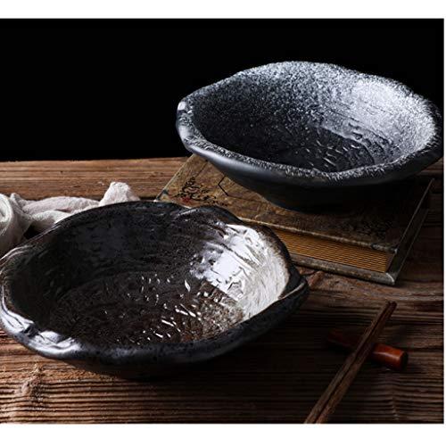 GWSGSCSL Ceramics Embossed Pattern Bowl, Shaped Bowl, Fruit Bowl, Dessert Bowl, Salad Bowl, Soup Bowl, Noodle Bowl (Color : A)