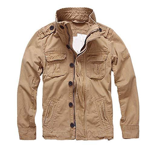 La primavera y el otoño casual de los hombres de la chaqueta de mezclilla deportiva chaqueta de trabajo de