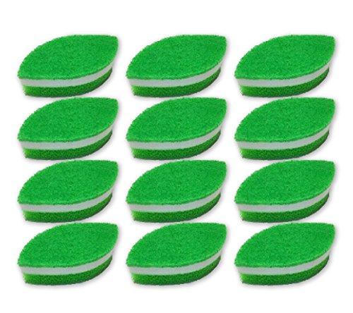 ダスキン スポンジ 抗菌タイプ リーフ型 (台所用) 12個入り 台所 キッチン用 キッチンスポンジ 油汚れ 長持ち (1個入り×12セット)
