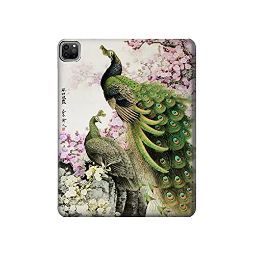 Innovedesire Peacock Chinese Brush Painting Tablet Case Cover Custodia per iPad PRO 12.9 (2021)