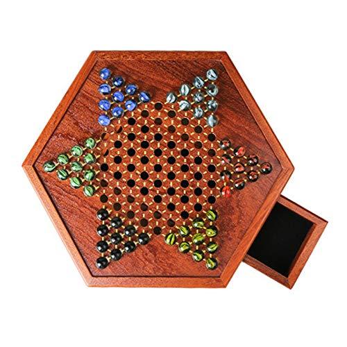 Zhice Set Multicolor Acryl Glasperlen Holzschachbrett Kinder Geschenke Brettspiel (Farbe : G400905A)
