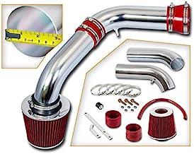 Rtunes Racing Short Ram Air Intake Kit + Filter Combo RED Compatible For 02-07 Dodge Ram 1500 3.7 4.7L / 03-07 Dodge Ram 1...