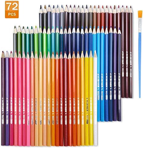 TOPERSUN 72 einzigartige Farben Buntstifte Farbstifte Aquarellstifte für Künstler Erwachsene und Kinder