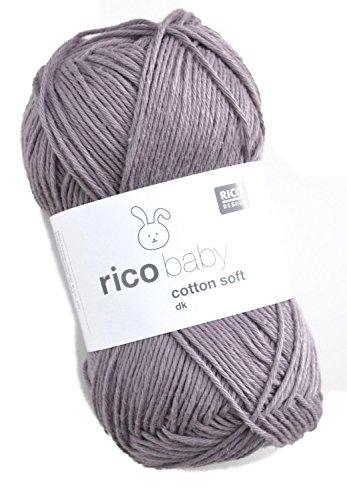 Rico Baby Cotton Soft dk Fb. 048 Mauve, weiche Babywolle, Baumwollmischgarn zum Stricken & Häkeln