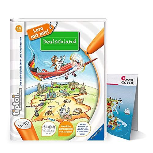 tiptoi Collectix Ravensburger Buch | Deutschland - Sachunterricht Grundschule + Kinder Wimmel Weltkarte - Lerne Städte, Länder, Tiere, Kontinente