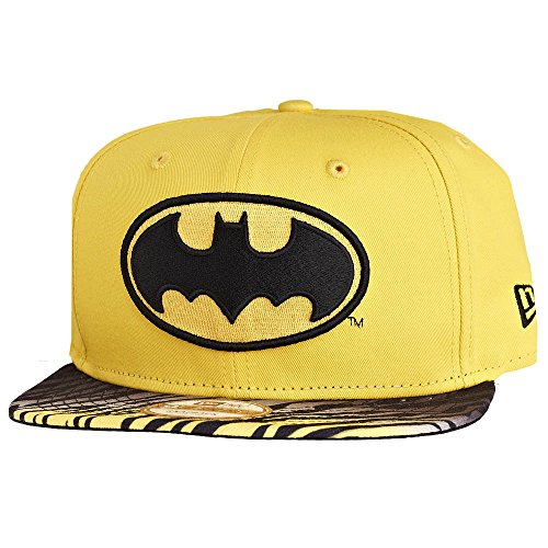 New Era x DC Comics - Casquette Snapback Homme Batman 9Fifty Animal Fade - Yellow/Black - Taille S/M