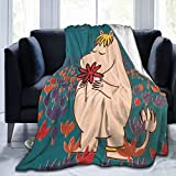 Micro Fleece Blankets Super Soft Cozy Blanket Moomin Blanket Warm Blanket Air Conditioning Blanket Throw Flannel Blanket for Sofa Bed Couch Camping