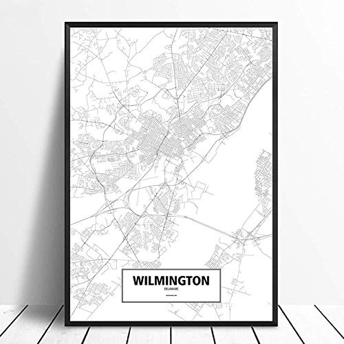 Canvas prints Painting Posters Amsterdam Black White Custom World City Map Poster Pictures Print On Canvas Nordic Style Wall Art Canvas Paintings For Home Decor No Frame-8x12_Inch(20cmX30cm)