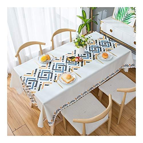 Yxx max - Mantel rectangular impermeable a prueba de aceite para mesa de café, mantel de uso doméstico duradero, fácil de limpiar, impermeable y antiincrustante, 1#, 120 x 170 cm
